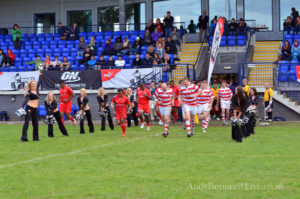 The team running out for the final
