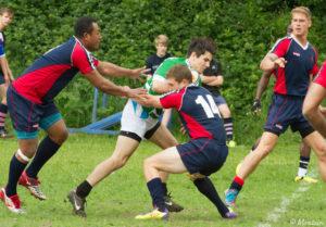 Rfn Jack Kermond Makes a tackle