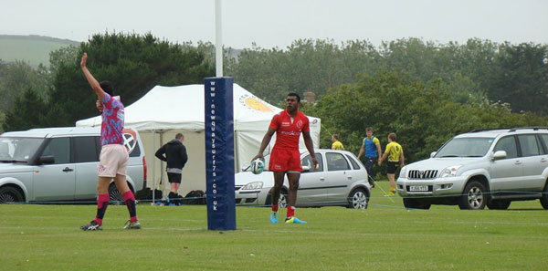 Cpl Tamatawale scoring a try against Ronin after a 70m sprint