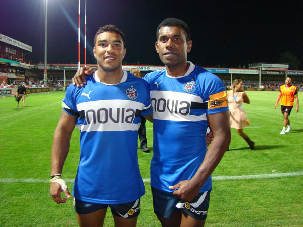 Cpl Tamatawale and LCpl Bishop post match