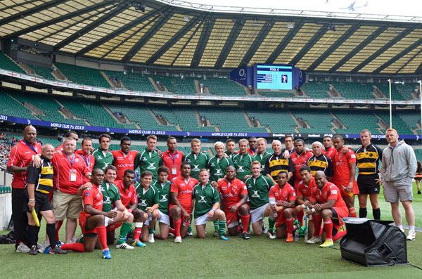 The Army and Barbarians with the officials of the day making history