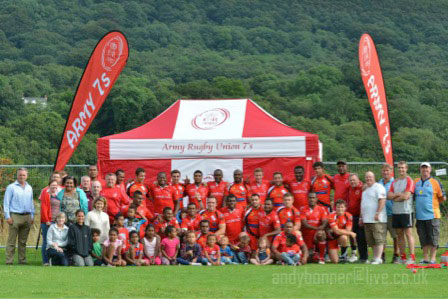 The Reds and Ponty Butchers before the final supported by family and friends – great teams