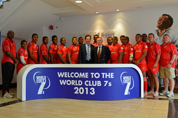 The Reds with the Mark McCafferty CEO PRL and General Shaun Burley MBE post match