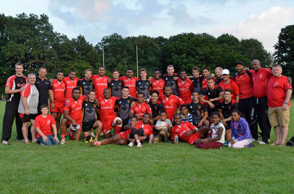 Germany v British Army 7s Teams post final enjoying the occasion