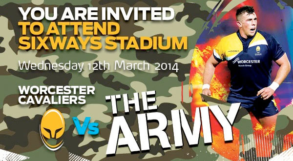 Worcester Cavaliers v The Army
