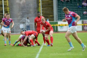Lt Luke Robinson ready to continue with the attack on England
