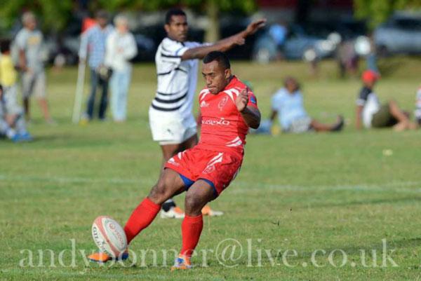 Cpl Zack Vakasawaqa converting his try in the semi final