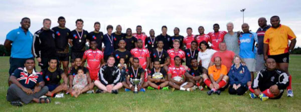 Winning Teams and officials for the UK Fiji 7s