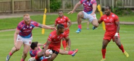 LCpl Waisale Navunidakua showing that a ninja tackle wont stop him even if it is England