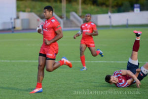 Pte Bulumakau showing that you cant beat pure gas when you need it