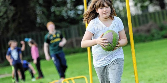 Rugby festival keeps primary pupils active.