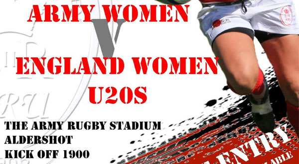 Army Women take on England U20's at Aldershot – Tue 17 Feb 15