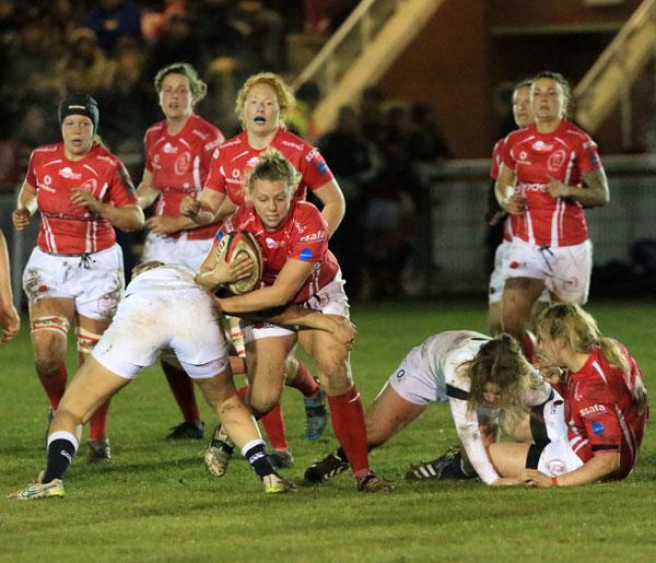 Sarah Batley Drives forward