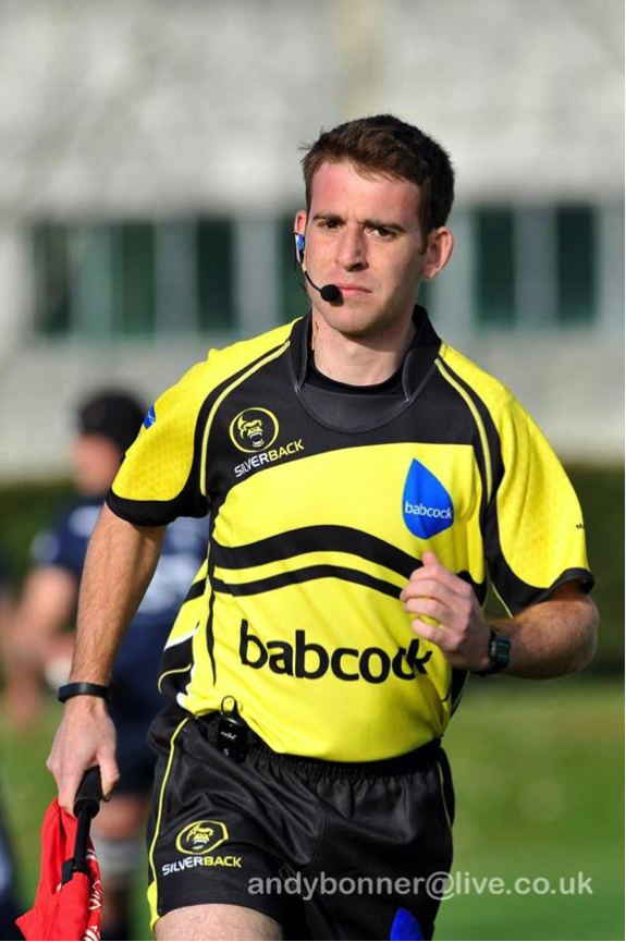 Iain at the recent Inter Services as an Assistant Referee