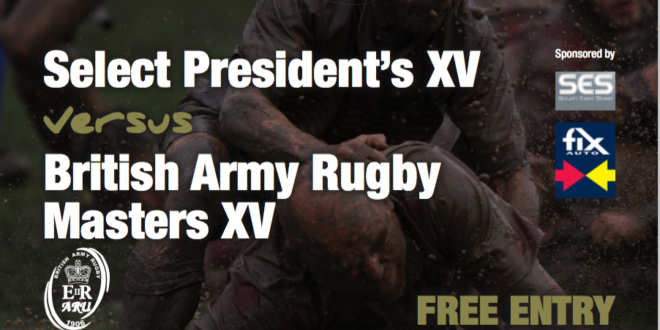 Remembrance Rugby 2016 – Masters v Select President's XV
