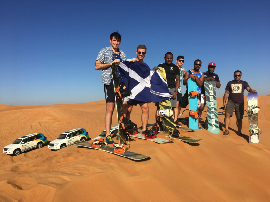 Dune-bashing and sand-boarding on the final day.