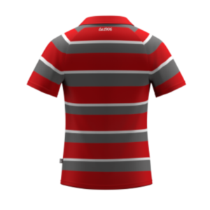 ARU Signature Hooped Rugby Shirt - Red / Grey / White