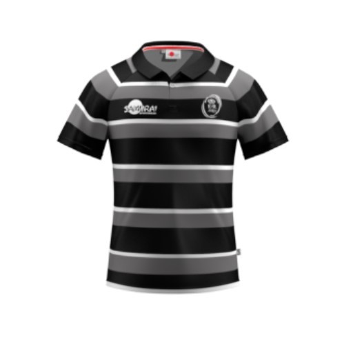 ARU Signature Hooped Rugby Shirt - Black / Grey / White