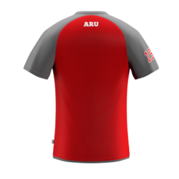 ARU Signature T-Shirt - Red / Grey