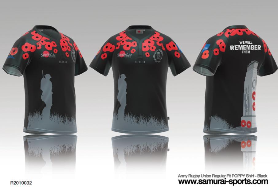 Remembrance Shirt 2019 10th Poppy by Samurai