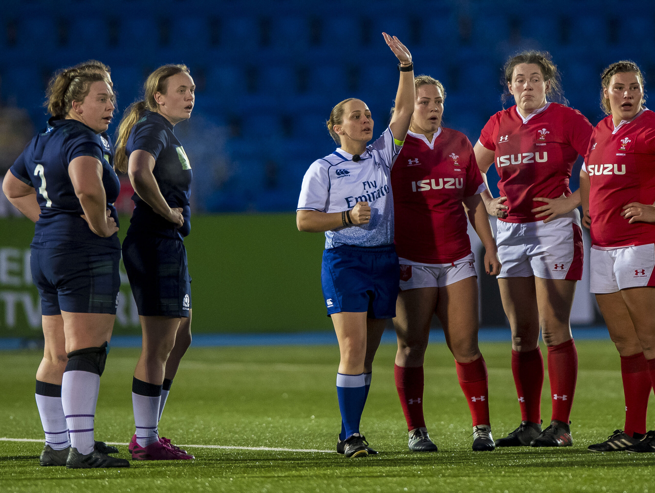 Captain Nikki O'Donnell continues international refereeing this Autumn