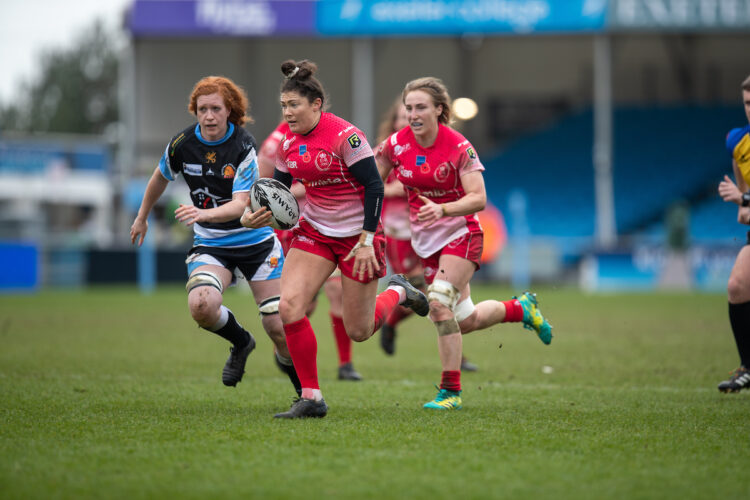 Army WOmen beat Exeter CHiefs WOmen 27-7 at Sandy Park.  Tries from Athawes, Miller, Rowland and Dainton secured the victory with Mullen scoring 2 conversions and a penalty.