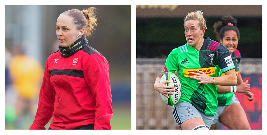 Eddie and O'Donnell representing Army Rugby in women's showcase