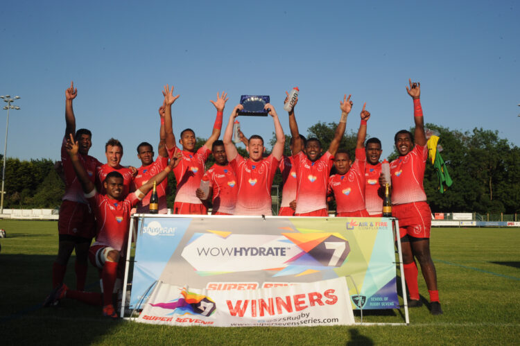 3rd round of Super Sevens Series which was won in the men's compeition by the Army.  Women lost in plate final.
